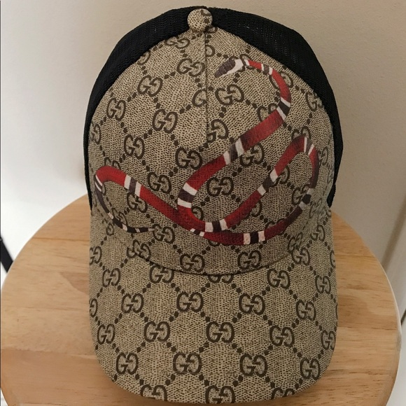 961b524f57a03 Gucci Accessories - Authentic Gucci hat king snake Sz Small